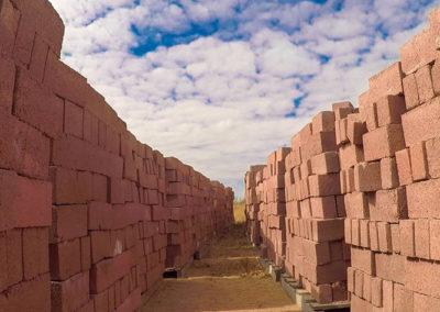 Brown common bricks