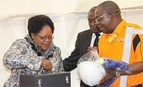 former vice president Joyce Mujuru opening Vaka Concrete